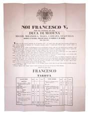 Decreto del 10 Agosto 1858, con il quale si procedeva alla riorganizzazione del sistema monetario.