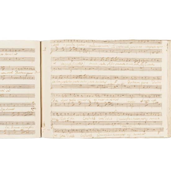 La Nina pazza per amore / Comedia in Prosa / Posta in Musica / Dal Sig.r Giovanni Paijsiello / Parte Prima [-Seconda]. Dal Negozio di Carlo Carpanin Copista di Musica in Freseria Venezia, [ca. 1790-1810]
