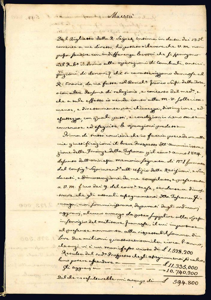 Raccolta di 13 lettere di autori diversi inviate al Conte Vittorio Fossombroni.