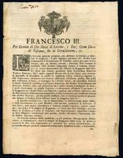 Francesco III. Per grazia di Dio Duca di Lorena