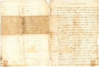 Lettera a Francesco I re di Francia. Manoscritto su carta. Italia (Roma?), ca. 1540