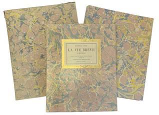 La vie brève. Almanach. Traduction française de Jean Cassou. Ornée de Lithographies originales de Mariano Andreu