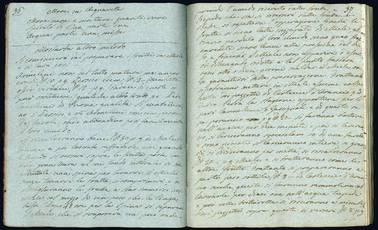 Ricettario-Libro di segreti. Manoscritto su carta azzurra. Italia, 1824 ca.