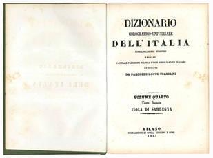 Dizionario corografico-universale dell'Italia. Isola di Sardegna.