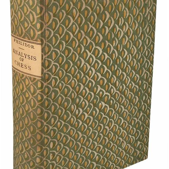 """Studies of chess; containing Caissa, a poem, by Sir William Jones; A Systematic Introduction to the Game; and The whole analysis of chess, by Mr. A. D. Philidor: with Original Critical Remarks. In two volumes. """"Ludimus effigiem belli."""" A new edition. V"""