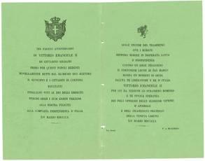 Raccolta comprendente complessivamente 55 pezzi tra documenti manoscritti, dispacci telegrafici, manifesti, proclami e pamphlet a stampa riguardanti i moti risorgimentali ad Arezzo e dintorni tra il 1848 e il 1861