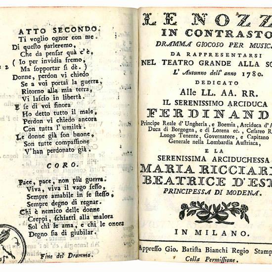 Miscellanea contenente sette drammi giocosi