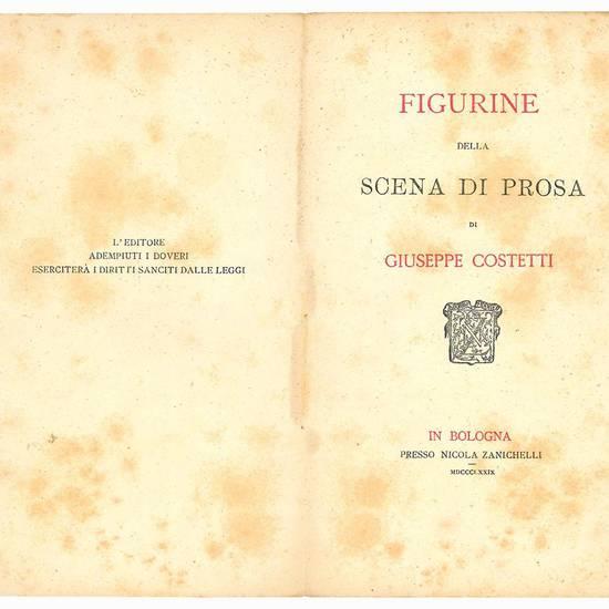 Figurine della scena di prosa.