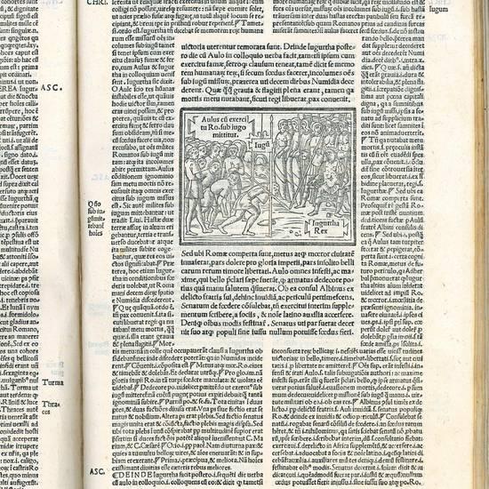 Hoc in volumine C. Crispi Sallustii haec omnia continentur. Epistola Pomponii ad Augustinum Mapheum. Epistola Io. Badii Ascensii [...] M.T. Ciceronis oratio in L. Catilinam [...] C. Crispi Sall. bellum Catilinarium cum interpretationibus Laurentii Vall. O