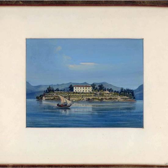 Veduta dell'Isola Madre sul Lago Maggiore.