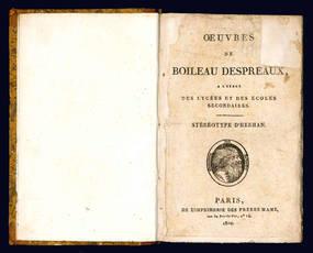 Oeuvres de Boileau Despreaux.