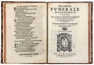 Esequie del divino Michelangelo Buonarroti