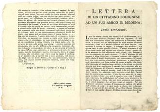 Lettera di un cittadino bolognese