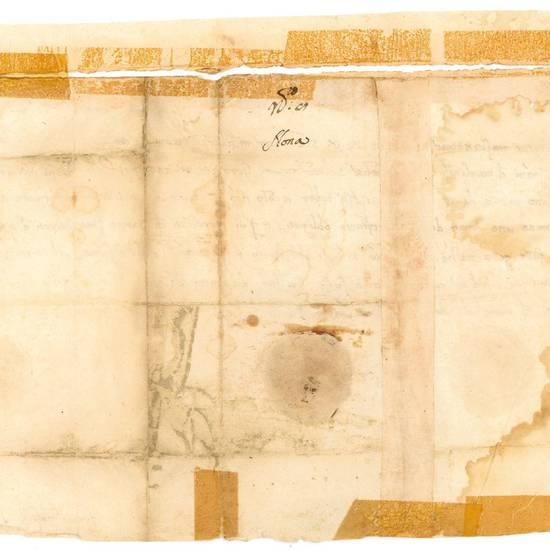 Lettera manoscritta, datata Parma, 12 giugno 1511