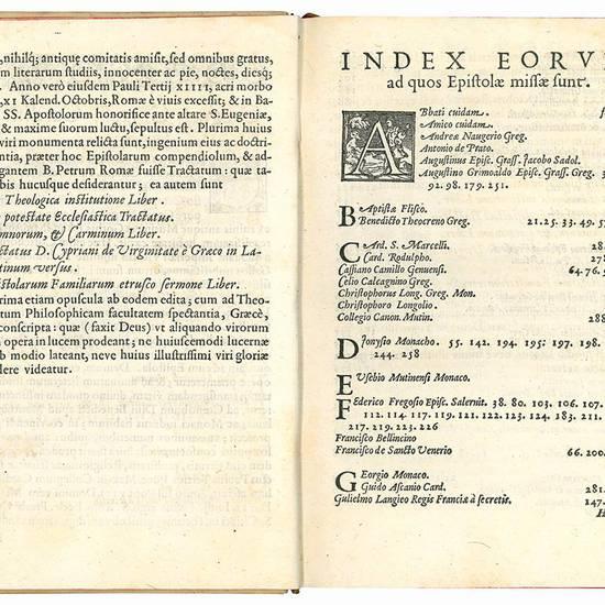 Epistolarum familiarium liber. Eiusdem Tractatus adversus negantem B. Petrum Apostolum fuisse Romae, ad Adrianum VI. Pont. Max. [...]