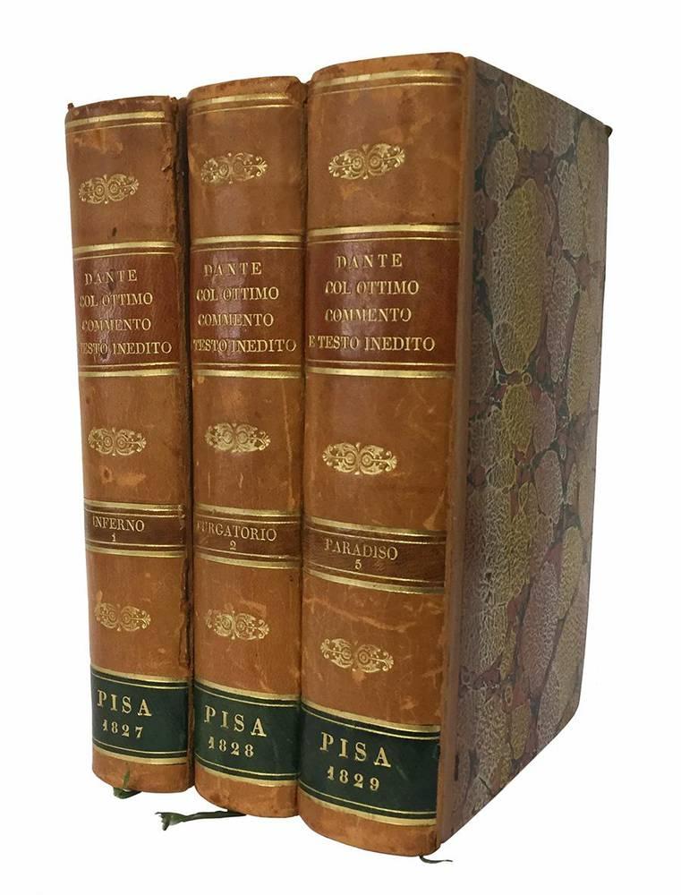 L?ottimo commento della Divina Commedia testo inedito d?un contemporaneo di Dante citato dagli accademici della Crusca tomo I [-III]
