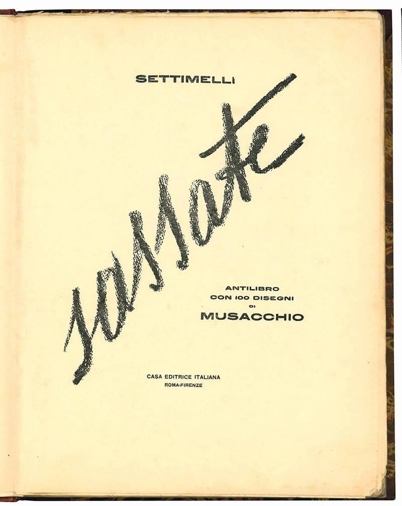 Sassate. Antilibro con 100 disegni di Musacchio.