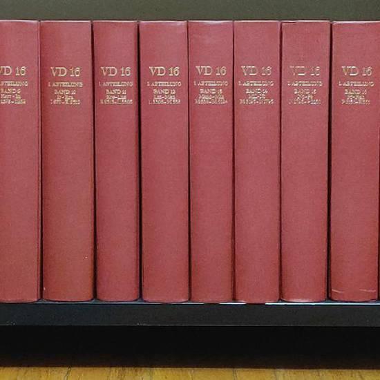 Verzeichnis der im deutschen Sprachbereich erschienenen Drucke des 16. Jahrhunderts