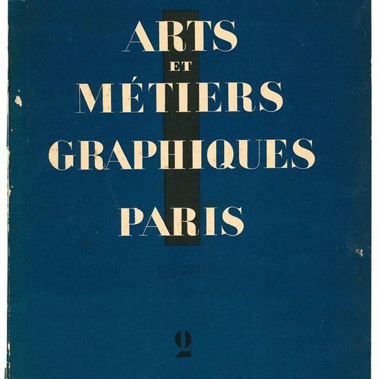 Arts et Métiers Graphiques Paris n.2 décembre 1927. Office De Livres Du Crapouillot Éditions Originales et De Luxe.