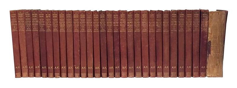 The Encyclopædia Britannica. A dictionary of arts, sciences, literature and general information. Eleventh Edition. Volume I (-XXIX).