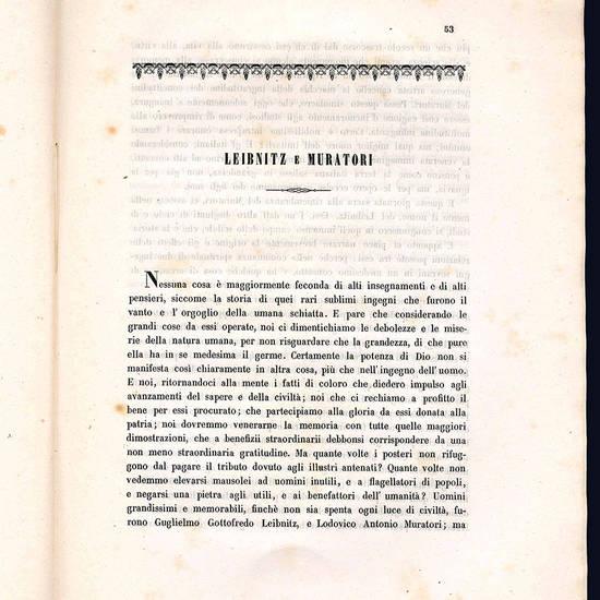 Nella solenne inaugurazione della statua a Lodovico Antonio Muratori.