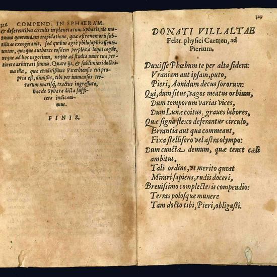 Sphaera Ioannis De Sacro Bosco emendata. In eandem Francisci Iunctini Florentini, Eliae Vineti Santonis, & Alberti Heronis Scholia. Caetera pagina sequens indicabit