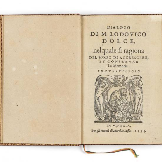 Dialogo di m. Lodovico Dolce, nel quale si ragiona del modo di accrescere, et conservar la memoria