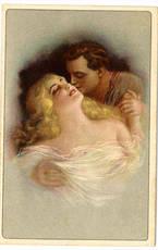Bacio tra un uomo ed una donna