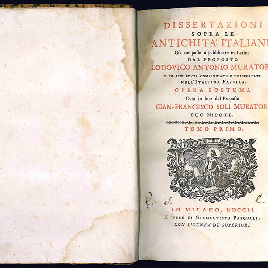 Dissertazioni sopra le antichità italiane.