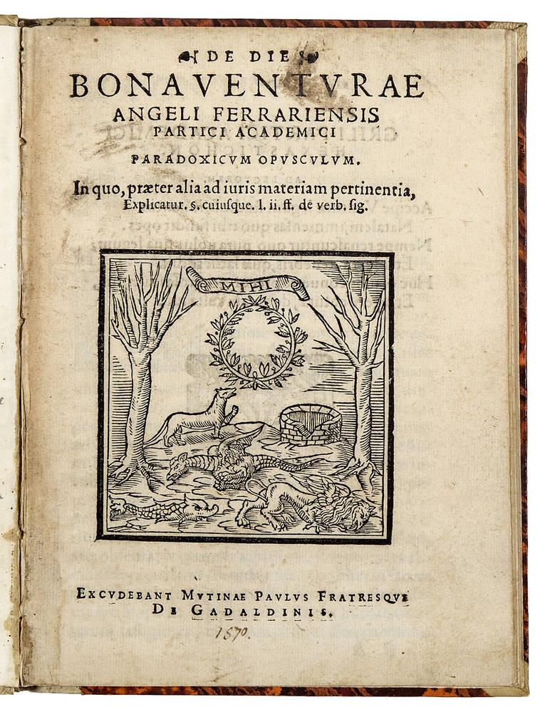 De die paradoxicum opusculum