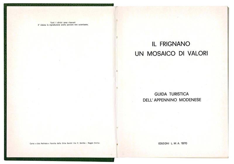 Il Frignano un mosaico di valori.