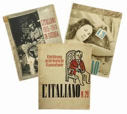 Lotto di tre numeri del periodico L'Italiano. Anno IX. Numeri 25/26, 28, 29.