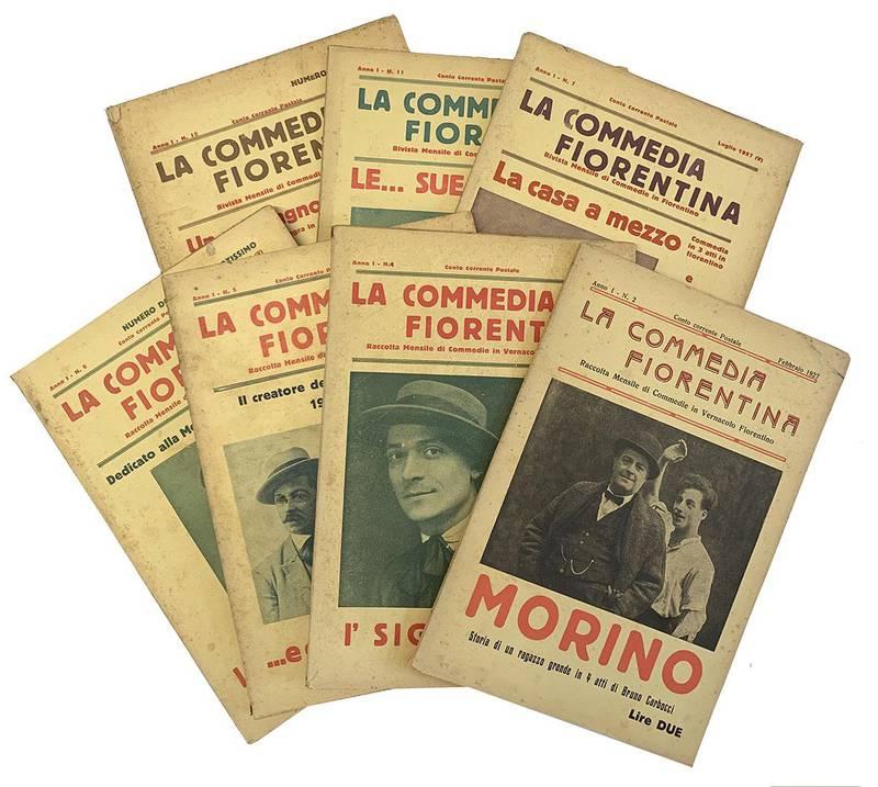 """Lotto di 23 numeri del mensile """"La Commedia fiorentina."""""""