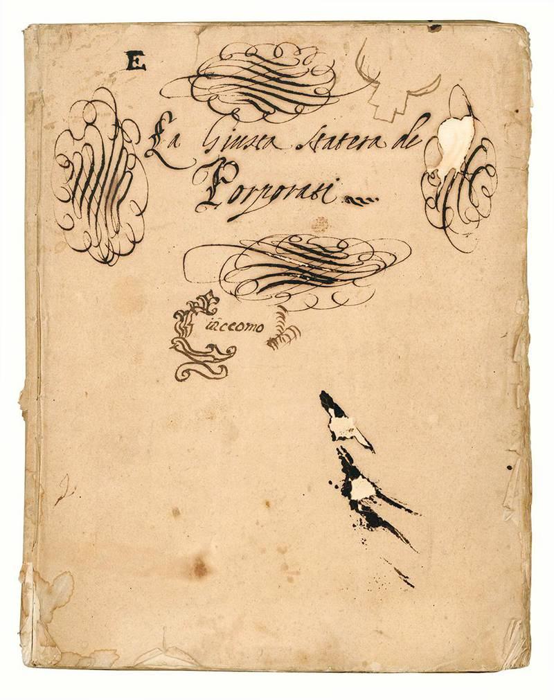 La Giusta Statera de Porporati. Manoscritto su carta. Roma, ca. 1645-1649