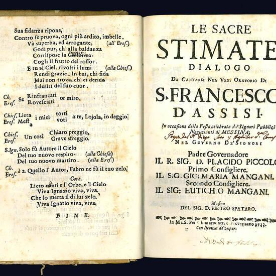 Miscellanea contenente 56 libretti per musica sacra, ossia componimenti, dialoghi e oratori