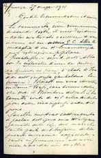 Lettera autografa. Firenze: 27 maggio 1901.
