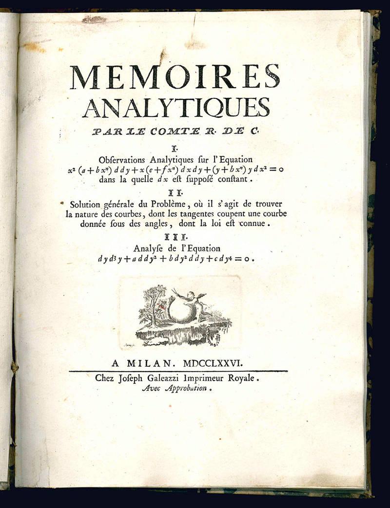 Memoires analytiques