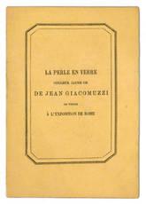 La perle en verre couleur jaune or de Jean Giacomuzzi de Venise a l'Exposition de Rome.