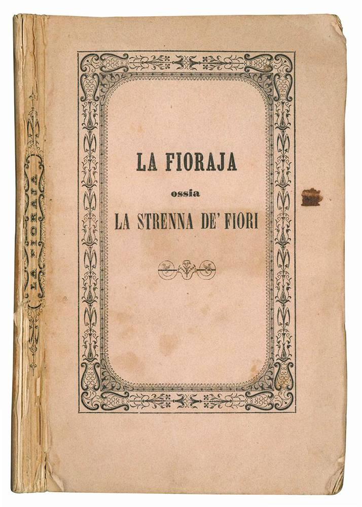 La fioraja ossia la strenna dei fiori. Anno II.
