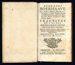 Hermanni Boerhaave ... Tractatus de viribus medicamentorum.