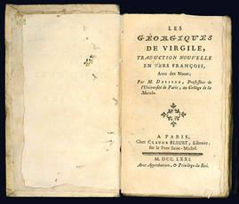 Les Georgiques de Virgile, traduction nouvelle en vers françois.