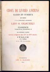 Choix de livres anciens