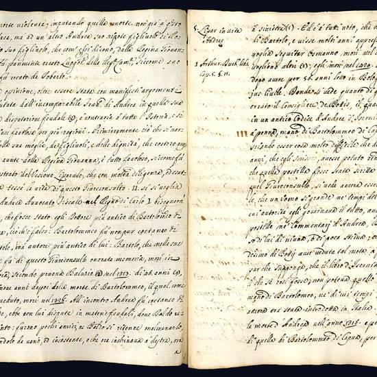 Estratto dalla Istoria civile del Regno di Napoli relativo alla vita di Andrea d'Isernia.