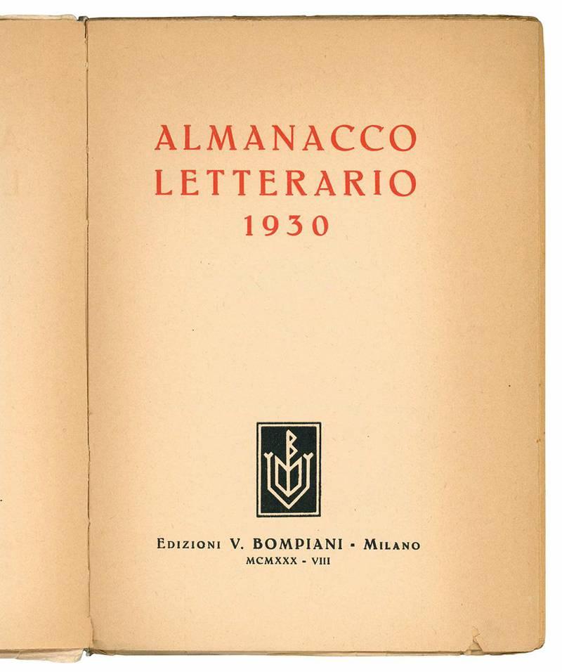Almanacco letterario 1930.
