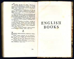 Catalogue des livres françois, anglois, espagnols, italiens et latins