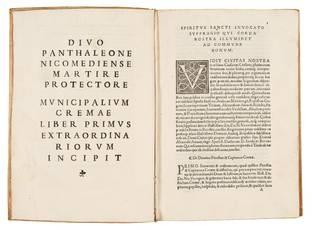 Municipalia Cremae. First colophon (l. S9r): Venice, Aurelio Pinzi, 1536. Second colophon (l. 2A3r): Venice, Giovanni Padovano & Venturino Ruffinelli, 1537