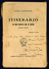 Itinerario di uno spirito che si cerca (1912-1919).