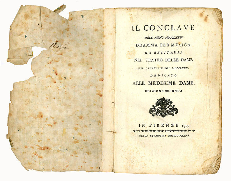 Il conclave dell'anno MDCCLXXIV
