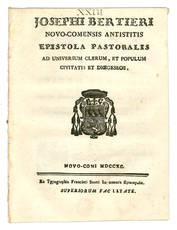 Josephi Bertieri Novo-Comensis Antistitis Epistola Pastoralis.