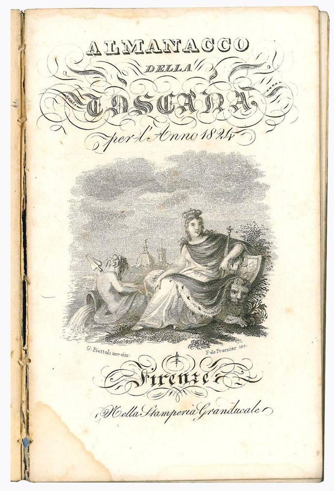 Almanacco della Toscana per l'anno 1824.
